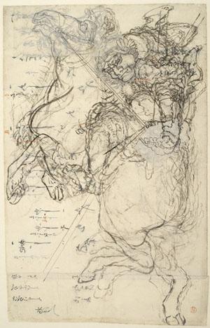 Guerrier sur un cheval cabré, Vers 1830© Thierry Ollivier / RMN
