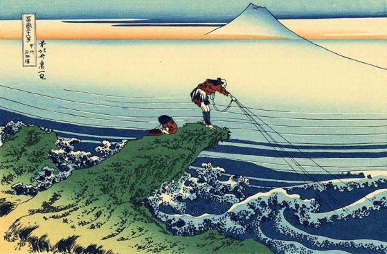 Le pêcheur de Kajikazawa, c. 1830