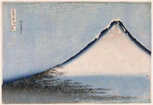 Trente-six vues du Mont Fuji, Le Fuji bleu, Vers 1832-1835© Thierry Ollivier / RMN