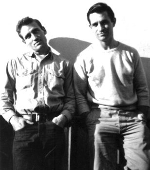 Neal Cassady (gauche) et Jack Kerouac (droite)