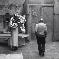 Jean Dubuffet à l'atelier de Vincennes, 1973© Archives Fondation Dubuffet, Paris/photographe : K. Wyss