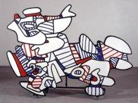 Lion, 1971 Marker couleur sur papier (découpé et collé sur papier kraft)© Fondation Dubuffet / A.D.A.G.P., Paris