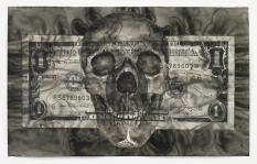 Autoportrait à un dollar F56789603 H, Yan Pei-Ming