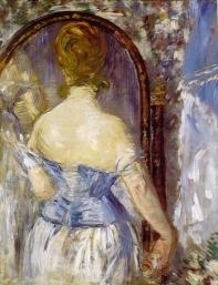 Devant le miroir, Edouard Manet, 1876,  Solomon R. Guggenheim Museum, New York