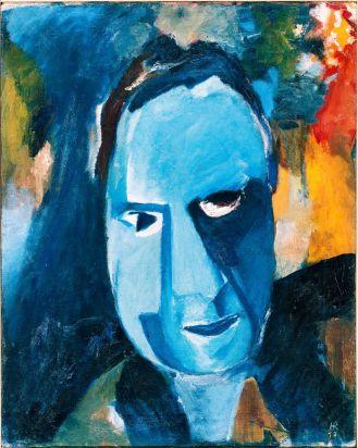 Hans Richter, Blauer Mann [Homme bleu], 1917 Huile sur toile, 61 × 48,5 cm Kunssthaus Zürich, Don de Frida Richter, 1977 © Estate Hans Richter