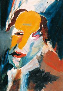 Hans Richter, Visionary Portrait, 1917 Huile sur toile, 53 x 38 cm. Galerie Berinson, Berlin © Estate Hans Richter