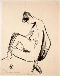 Nu assis (1915) par Hans Richter © Estate Hans Richter © Centre Pompidou, MNAM-CCI, Dist. RMN-Grand Palais et Jean-Claude Planchet