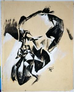 Portrait de Joannes Baader par Hans Richter © Estate Hans Richter © Centre Pompidou, MNAM-CCI, Dist. RMN-Grand Palais et Jean-Claude Planchet