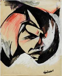 Portrait de Lou Märten, Hans Richter (1888-1976), (C) Estate Hans Richter, (C) Centre Pompidou, MNAM-CCI