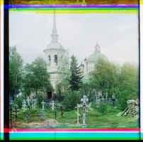 Cimetière de l'église de l'Exaltation-de-la-Croix © Library of Congress, Procoudine-Gorsky Collection - Famille Procoudine-Gorsky