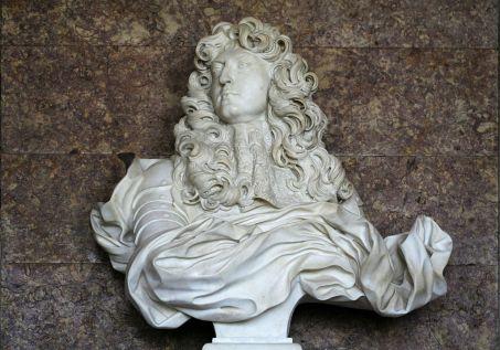 Château de Versailles, salon de Diane, buste de Louis XIV, Bernin (1665) (C) Coyau via Wikipedia