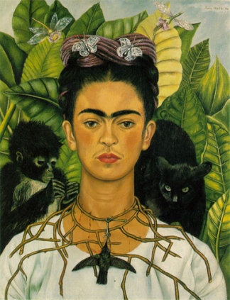 Frida Kahlo, Autoportrait au collier d'épines et au colibri, Nickolas Muray Collection, Harry Ransom Center, University of Texas at Austin