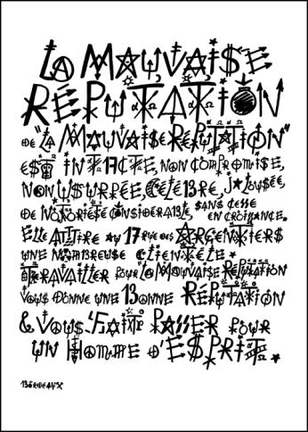 Jacques Villeglé sérigraphie 70 x 50 cm 60 ex. / papier brut de centaure 300 g