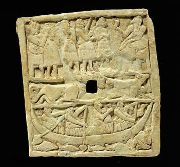 Plaque perforée avec scène de banquet, civilisation sumérienne, époque des DA II, vers 2700 BC, IM. 14661, Louvre