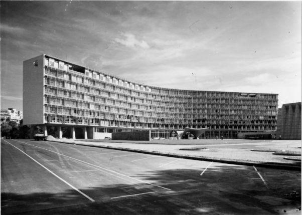 Unesco, Paris, 1952-1958 - le bâtiment du secrétariat, n.d., © Fds Zehrfuss. Académie d'architecture/CAPA