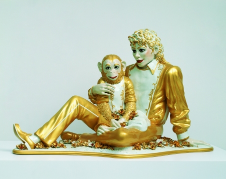 Mickael Jackson and Bubbles, Jeff Koons, 1988 © Jeff Koons