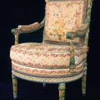 Fauteuil à la reine du mobilier aux épis © Château de Versailles, Dist. RMN © JM Manaï