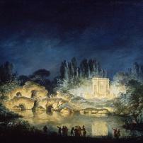 Illumination du Belvédère du Petit Trianon, 1781 Versailles, musée national des châteaux de Versailles et de Trianon © EPV