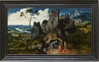 Joachim Patinir - Saint Jérôme dans le désert, 1515-1520 © 2007 Musée du Louvre / Angèle Dequier