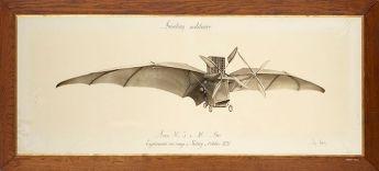 Tableau : aéroplane de Clément Ader, dit « avion n°3 », 1897 © Musée des arts et métiers-Cnam / photo Pierre Ballif