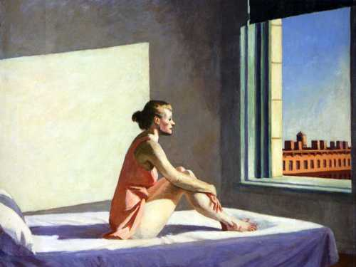 Morning Sun, Edward Hopper. Huile sur toile, 1952. Colombus Museum of Art.