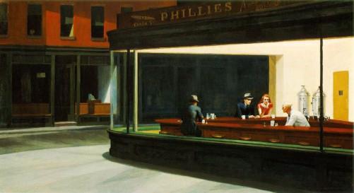 Nighthawks. Hopper, 1942.