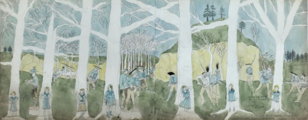 Henry Darger, Second battle of McAllister Run they are pursued, 1910-1970 © Musée d'Art Moderne / Roger-Viollet