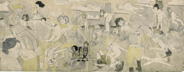 Henry Darger, At Calmanrina murdering naked little girls, 1910-1970 © Eric Emo / Musée d'Art Moderne / Roger-Viollet