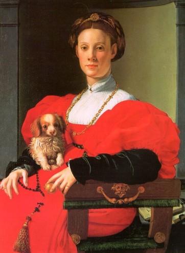 Agnolo Bronzino, Portrait de dame en rouge. 1532 – 1535, Huile sur bois, 89,8 x 70,5 x 2,6 cm Francfort, Stadel Museum © Städel Museum - U. Edelmann / ARTOTHEK