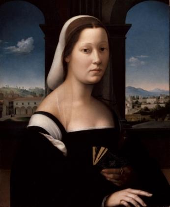 Ridolfo del Ghirlandaio, Dame au voile (la «Monaca»), 1510 – 1515 env., Huile sur toile, 65 x 48,1 cm Florence, Galerie des Offices © S.S.P.S.A.E e per il Polo Museale della Città di Firenze