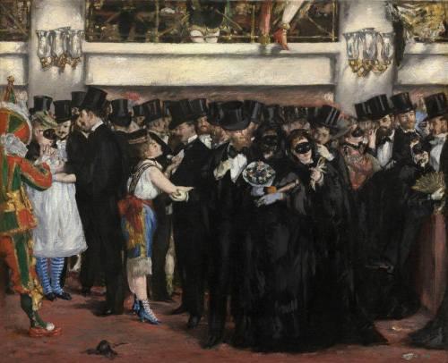 Edouard Manet, Bal masqué à l'Opéra, 1873 Huile sur toile, H. 59,1 ; L. 72,5 cm. Washington, National Gallery of Art © Courtesy The National Gallery of Art, Washington