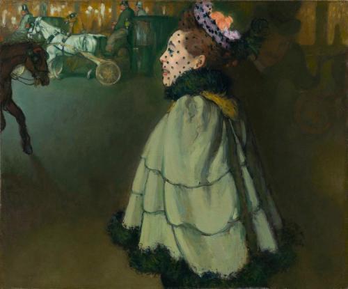 Louis Anquetin, Femme sur les Champs-Elysées la nuit, 1891. Huile sur toile, 83,2 x 100 cm. Amsterdam, Van Gogh Museum. © Van Gogh Museum, Amsterdam (purchased with the support from the BankGiro Lottery and the Rembrandt Association)