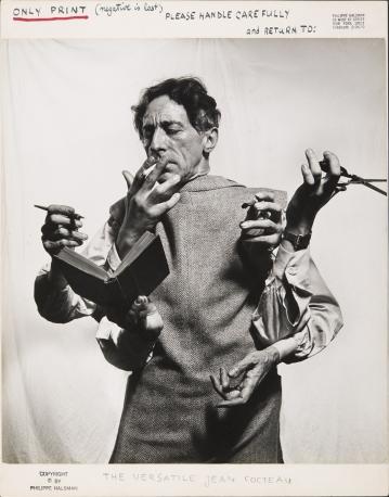Jean Cocteau, 1949 © 2015 Philippe Halsman Archive / Magnum Photos