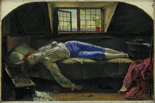 La Mort de Chatterton, Henry Wallis, 1856.